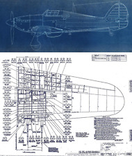 Hawker Hurricane Original Blueprint Plans WW2 period archives RARE Drawings RAF