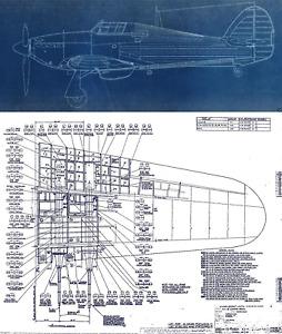 Hawker Hurricane Original Blueprint Plans WW2 period archives RARE Drawings RAF