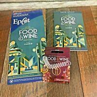 NEW Disney 2016 EPCOT Food & Wine Festival Wristlet $0 Gift Card Map Passport