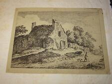 Alexis Nicolas PERIGNON (NANCY 1726-1782) GRAVURE XVIII PAYSAGE ANIME LORRAINE a