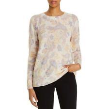 Private Label Womens Cashmere Paisley Top Crewneck Sweater BHFO 0548