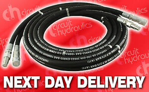NEXT DAY DELIVERY Hydraulic Breaker Hose Set 6mtr Complete With Couplings