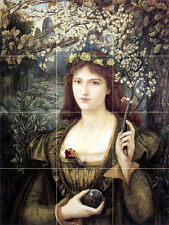 Madonna Art Victorian Fantasy Mural Ceramic Backsplash Bath Tile #478