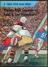 1971 Texas State AAAA Final Game Program Wichita Falls v Robert E. Lee