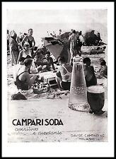 PUBBLICITA' 1933 CAMPARI SODA MILANO APERITIVO DRINK SPIAGGIA ARREDAMENTO BAR