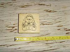 Pilgrim Gal Girl Bear Pilgrim crafting craft stamp Thanksgiving Dj inkers Nice