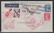 1935 FRANCE rocket mail cover P.28 - Roberti - EZ 4C6/4C7