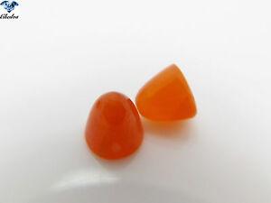1x Karneol - Orange-rot Rund Cabochon Kegel / Bowling 8,0x8,0mm  (1033)
