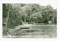South Chatham NH Beach RPPC Boats Vintage Photo—Carroll County 40s