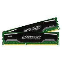 Crucial Ballistix Sport 8GB Kit 4GB x2 DDR3 PC3 Memory Ram BLS2KIT4G3D1609DS1S00