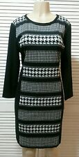 New! MICHAEL Michael Kors Black/White Houndstooth Print Sweater Dress Size 16*