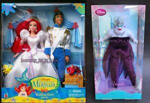 "Ursula Doll Ariel Eric Disney Wedding Party Gift Set Bride Little Mermaid G"""
