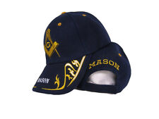 Dark Navy Blue Mason Masonic Freemason Feather Eggs Style Cap Hat