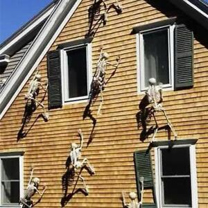 Halloween Scary Props Luminous Hanging Skeleton Outdoor Party Decor 150CM*