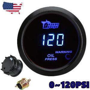 "Universal 2"" IN Digital LED Electronic Oil Pressure Gauge+Sensor Meter Kit K3R2"