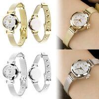 Fashion Luxury Women's Lady Stainless Steel Crystal Quartz Analog Wrist Watch