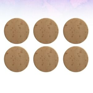 20pcs Wooden Chips DIY Polish Natural 5cm Round Beech Chips for Ornaments Making