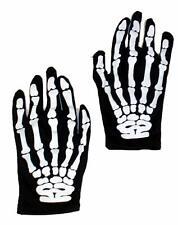 Halloween adulto scheletro teschio spaventoso stampa Guanti Costume Accessorio