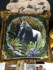VERSACE PILLOW CUSHION GORILLA  MEDUSA with 2 sides NEW in bag $500