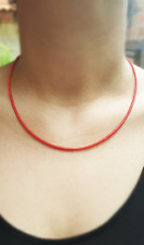 Afghan Coral Necklace Tiny Seed Small Beads Handmade Minimalist Dainty Jewelry