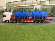 3D Printed 2X Large Fuel / water Bowser  1/76 scale & 00 Gauge. (Blue)