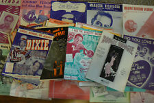 Vintage Nice Lot 100 Sheet Music 1920s-1940's Shows Musicals Oz War ALL PICTURE