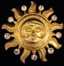 Vintage KIRKS FOLLY Gold Tone One Love Pin/Pendant Enhancer RARE 3u