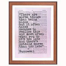 Charles Bukowski quote... - dictionary art print gift home decor Gonzo