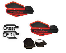 PowerMadd STAR Series Handguard Mirror Mount Kit Honda Red Black Polaris ATV