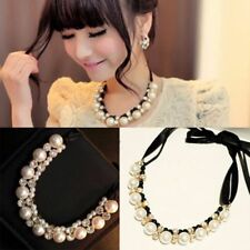 Runde Modeschmuck-Halsketten & -Anhänger aus Metall-Legierung Perlen