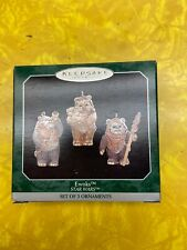 HALLMARK KEEPSAKE STAR WARS EWOKS SET OF 3 CHRISTMAS ORNAMENTS C31