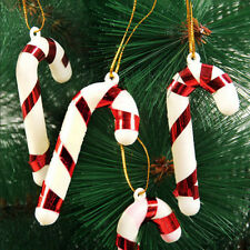 12x Mini Candy Cane Hanging Ornament Christmas Home Party Xmas Tree Decor Gift
