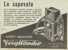 W6560 Macchina fotografica Voigtlander Brillant - Pubblicità 1942 - Advertising