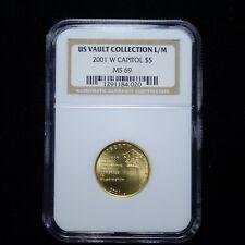 2001-W Capitol $5 Gold NGC MS69 (us vault collection) (slx3680)