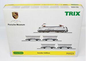 N Scale minitrix 91021 Porsche Museum E Loco & Freight Cars Special Edition Set
