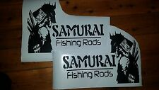 Samurai fishing rods stickers/decals  LEFT & RIGHT matched