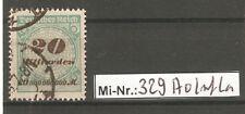Deutsches Reich Mi-Nr.: 329 A sauber gestempelter Wert geprüft Infla
