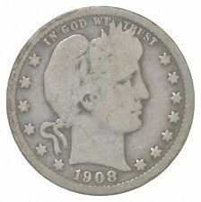 Better 1908 - US Barber 90% Silver Quarter Coin Collection Set Break *492