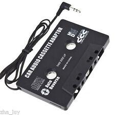 BLACK IN CAR CASSETTE TAPE ADAPTER PHONE 3G/4G MP3 IPOD NANO CD CASSETE