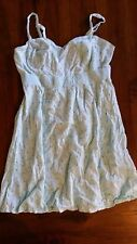 Crossroads Mint crochet cotton lined dress preowned free post E3