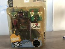 Invader Zim House Set Parts 1-3 Gaz, Zim, Gir Figures And House Boxed Unopened