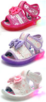 New Adorable Baby Infant Toddler Girls Light Up Sandals Shoes 3 Colors Size 3-6