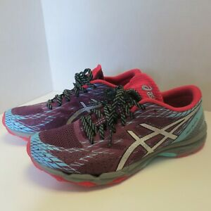 Asics Women's 9.5 Gel FujiLyte Running Shoe T682N Plum/Silver/Pool Blue
