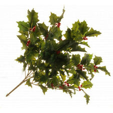 Holly Bush With Berries Artificial 50cm Christmas Green