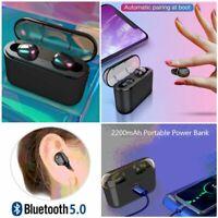 TWS Wireless Mini Bluetooth Earphone Handfree Sport Headset Stereo Bass Earbuds
