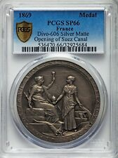EGYPT , SILVER MEDAL SUEZ CANAL INAUGURATION 1869 PCGS SP66 - TOP POP  , RARE