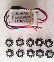 10pcs 3W 440-445nm 700ma Blue LED With QH-20LP6 – 10x3W Led Driver