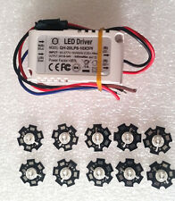 10pcs 3W 440-445nm Blue LED 20-30LM  With QH-20LP6 – 10x3W Led Driver