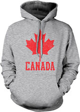 Canada Symbol Canadian Distressed Country Born From Maple CAN Hoodie Sweatshirt