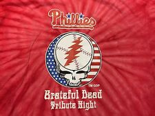 RARE PHILLIES GRATEFUL DEAD TRIBUTE NIGHT TYE DYE SHIRT ! SIZE M ! MEDIUM LESH